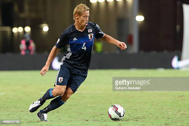 Keisuke Honda of Japan in action during the 2018 FIFA World Cup Qualifier match between Singapore and Japan at National Stadium on November 12 2015...