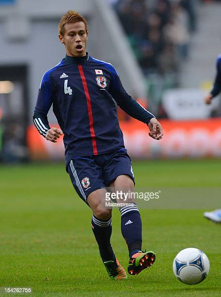 Keisuke Honda of Japan in action during the international friendly match between Brazil and Japan at Municipal stadium on October 16 2012 in Wroclaw...
