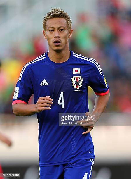 Keisuke Honda of Japan looks on during the 2018 FIFA World Cup Russia qualifier against Afghanistan at Azadi Stadium on September 8 2015 in Tehran...