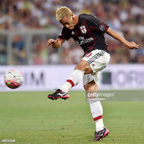 Keisuke Honda of Milan in action during the TIM preseason tournament match between AC Milan and FC Internazionale at Mapei Stadium Città del...