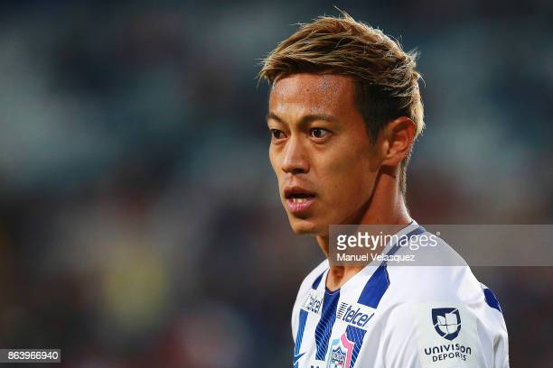 Keisuke Honda of Pachuca looks on during the 10th round match between Pachuca and Toluca as part of the Torneo Apertura 2017 Liga MX at Estadio...