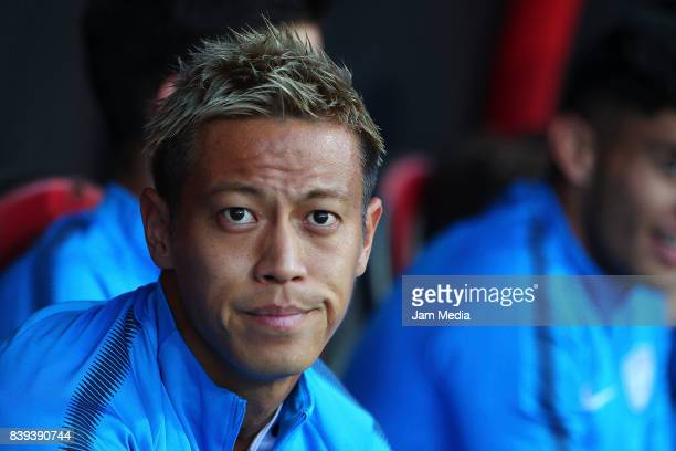 Keisuke Honda of Pachuca looks on during the seventh round match between Tijuana and Pachuca as part of the Torneo Apertura 2017 Liga MX at Caliente...