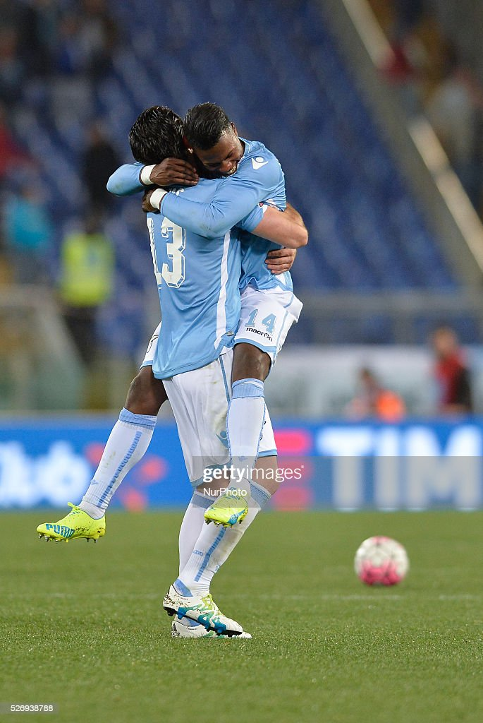 Keita Balde during the Italian Serie A football match between S.S. Lazio and F.C. Inter at the Olympic Stadium in Rome, on may 01, 2016.