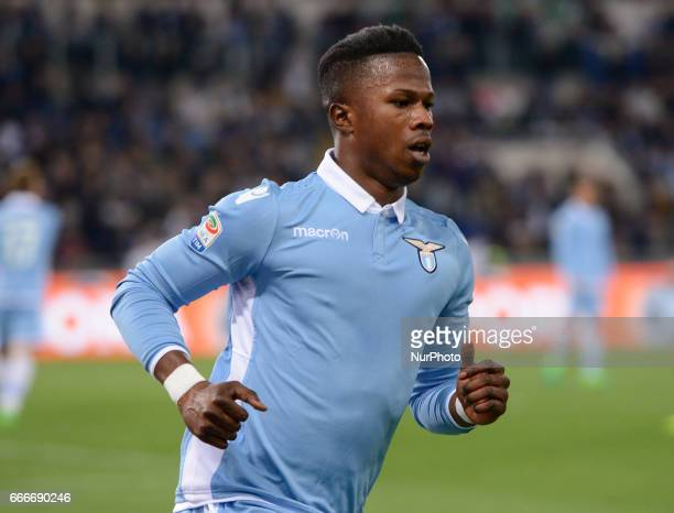Keita Balde during the Italian Serie A football match between SS Lazio and AC Napoli at the Olympic Stadium in Rome on april 09 2017
