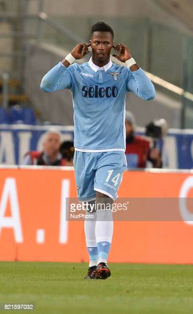 Keita Balde during the Italian Serie A football match between SS Lazio and FC Inter at the Olympic Stadium in Rome on may 21 2017