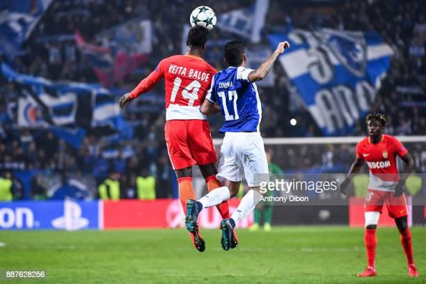 Keita Balde of Monaco and Jesus Corona of Porto during the Uefa Champions League match between Fc Porto and As Monaco at Estadio do Dragao on...