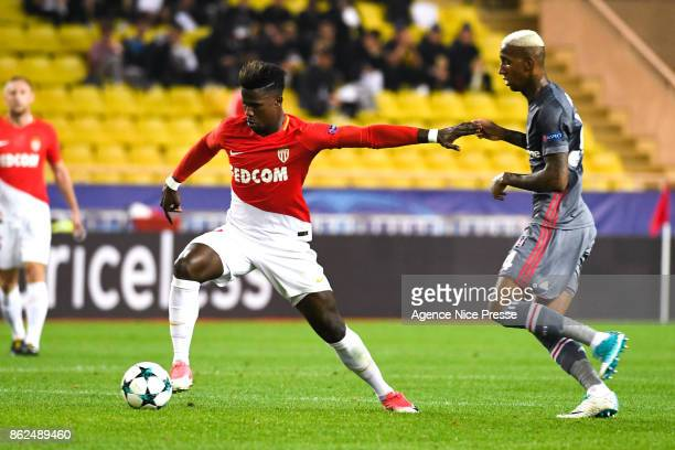 Keita Balde of Monaco and Talisca of Besiktas during the UEFA Champions League match between AS Monaco and Besiktas at Stade Louis II on October 17...