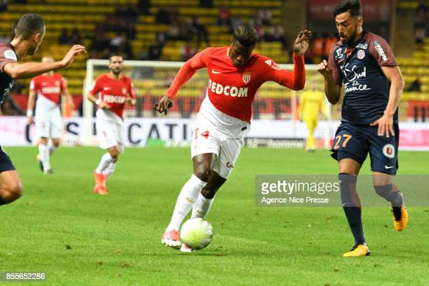 Keita Balde of Monaco during the Ligue 1 match between AS Monaco and Montpellier Herault SC at Stade Louis II on September 29 2017 in Monaco