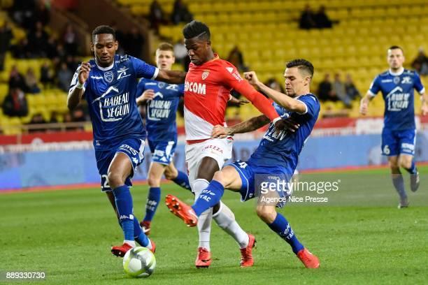 Keita Balde of Monaco during the Ligue 1 match between AS Monaco and Troyes Estac at Stade Louis II on December 9 2017 in Monaco