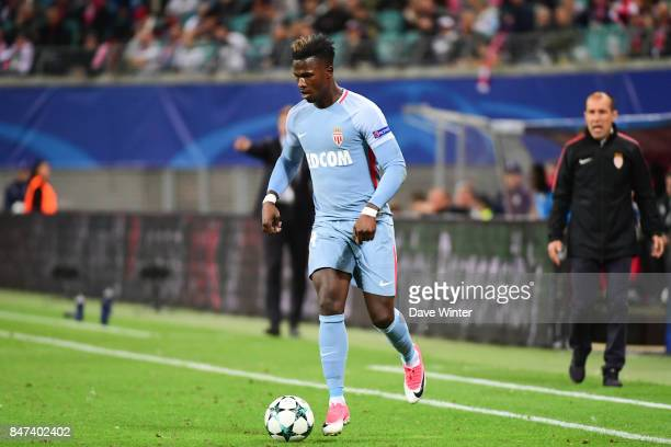Keita Balde of Monaco during the Uefa Champions League match between RB Leipzig and AS Monaco at Red Bull Arena on September 13 2017 in Leipzig Saxony