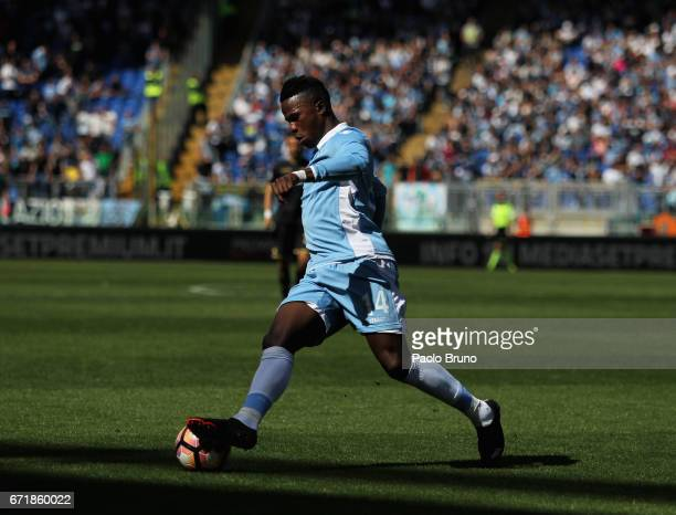 Keita Balde of SS lazio in action during the Serie A match between SS Lazio and US Citta di Palermo at Stadio Olimpico on April 23 2017 in Rome Italy