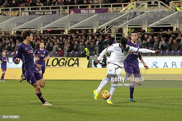 Keita Balde of SS Lazio scores the opening goal during the Serie A match between ACF Fiorentina and SS Lazio at Stadio Artemio Franchi on January 9...