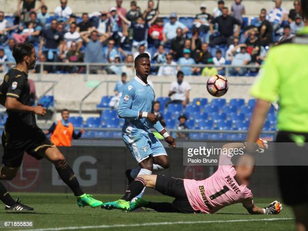 Keita Balde of SS Lazio scores the team's fifth goal during the Serie A match between SS Lazio and US Citta di Palermo at Stadio Olimpico on April 23...