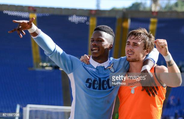 Keita Balde Patric Gabarron during the Italian Serie A football match between SS Lazio and US Sampdoria at the Olympic Stadium in Rome on may 7 2017