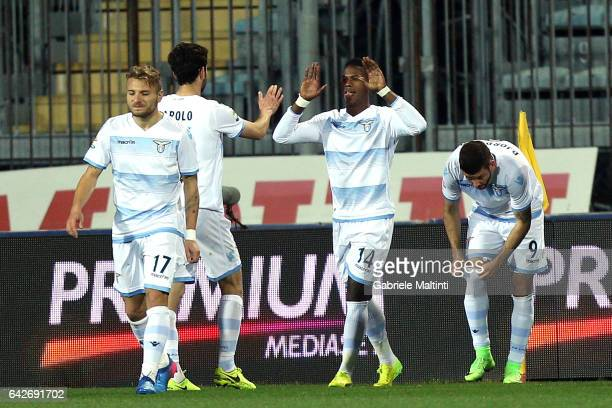 Keita Diao Balde of SS Lazio celebrates after scoring a goal during the Serie A match between Empoli FC and SS Lazio at Stadio Carlo Castellani on...