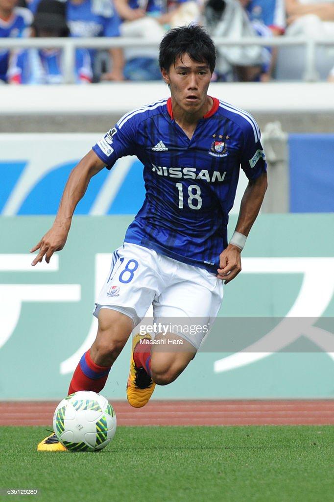 Keita Endo #18 of Yokohama F.Marinos in action during the J.League match between Yokohama F.Marinos and Kashiwa Reysol at the Nissan Stadium on May 29, 2016 in Yokohama, Kanagawa, Japan.