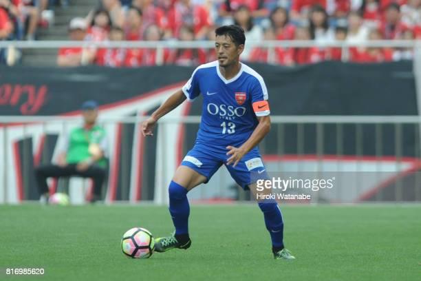 Keita Suzuki Blue Friends in action during the Keita Suzuki testimonial match between Reds Legends and Blue Friends at Saitama Stadium on July 17...