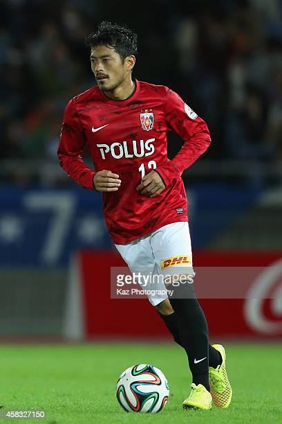 Keita Suzuki of Urawa Reds in action during the JLeague match between Yokohama FMarinos and Urawa Red Diamonds at Nissan Stadium on November 3 2014...