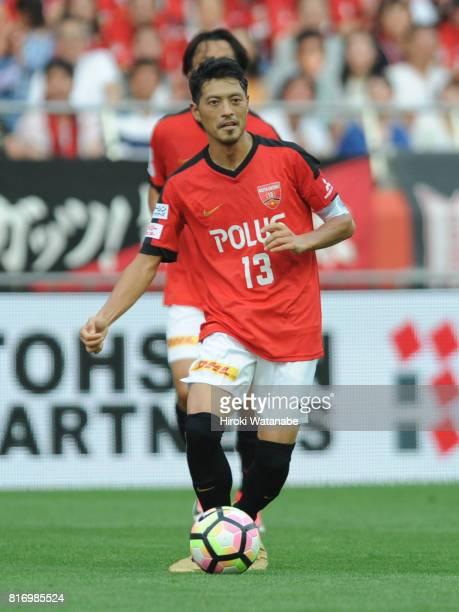 Keita Suzuki Reds Legends in action during the Keita Suzuki testimonial match between Reds Legends and Blue Friends at Saitama Stadium on July 17...