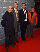 Keith Allen Stephen Tompkinson Jake Gavin and Peter Mullan attend a gala screening of 'Hector' at Cineworld Haymarket on December 7 2015 in London...