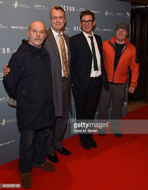 Keith Allen Stephen Tompkinson Jake Gavin and Peter Mullan attend a gala screening of 'Hector' at Cineworld Haymarket on December 7 2015 in London...