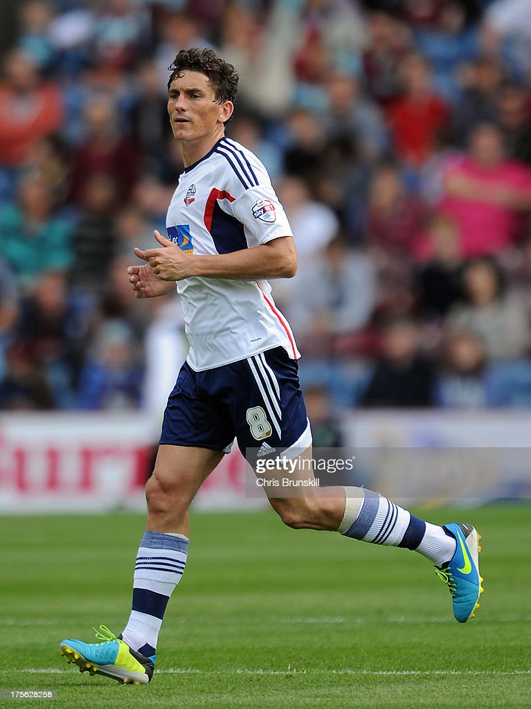 Keith Andrews of Bolton Wanderers in action during the Sky Bet Championship match between Burnley and Bolton Wanderers at Turf Moor on August 03, 2013 in Burnley, England.