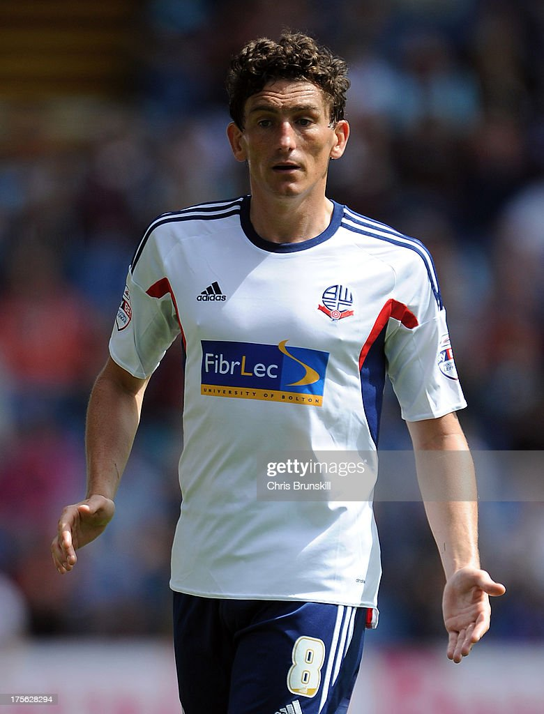<a gi-track='captionPersonalityLinkClicked' href=/galleries/search?phrase=Keith+Andrews&family=editorial&specificpeople=661603 ng-click='$event.stopPropagation()'>Keith Andrews</a> of Bolton Wanderers in action during the Sky Bet Championship match between Burnley and Bolton Wanderers at Turf Moor on August 03, 2013 in Burnley, England.
