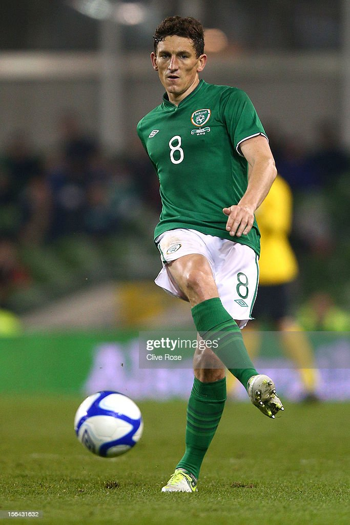 <a gi-track='captionPersonalityLinkClicked' href=/galleries/search?phrase=Keith+Andrews&family=editorial&specificpeople=661603 ng-click='$event.stopPropagation()'>Keith Andrews</a> of Ireland in action during the International friendly between Ireland and Greece at the Aviva Stadium on November 14, 2012 in Dublin, Ireland.