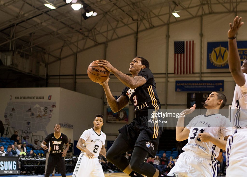 Keith Appling of the Erie BayHawks goes to the basket against the Austin Spurs during Day Three of the 2016 NBA DLeague Showcase on January 8 2016 at...