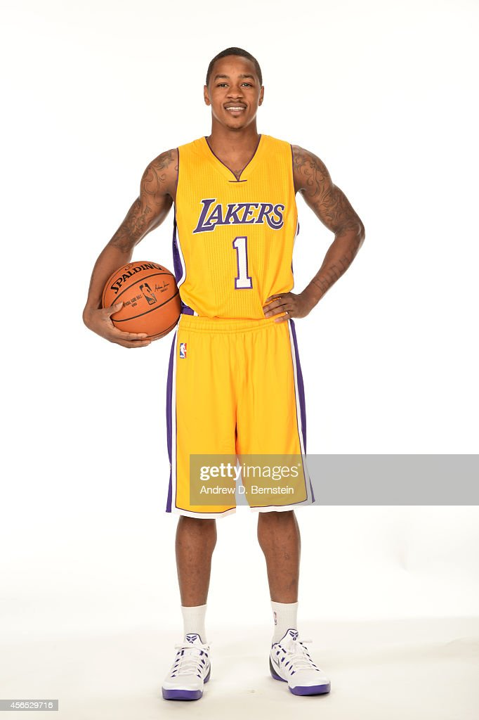 Keith Appling of the Los Angeles Lakers poses for a portrait during the Los Angeles Lakers Media Day at the Toyota Sports Center on September 29 2014...