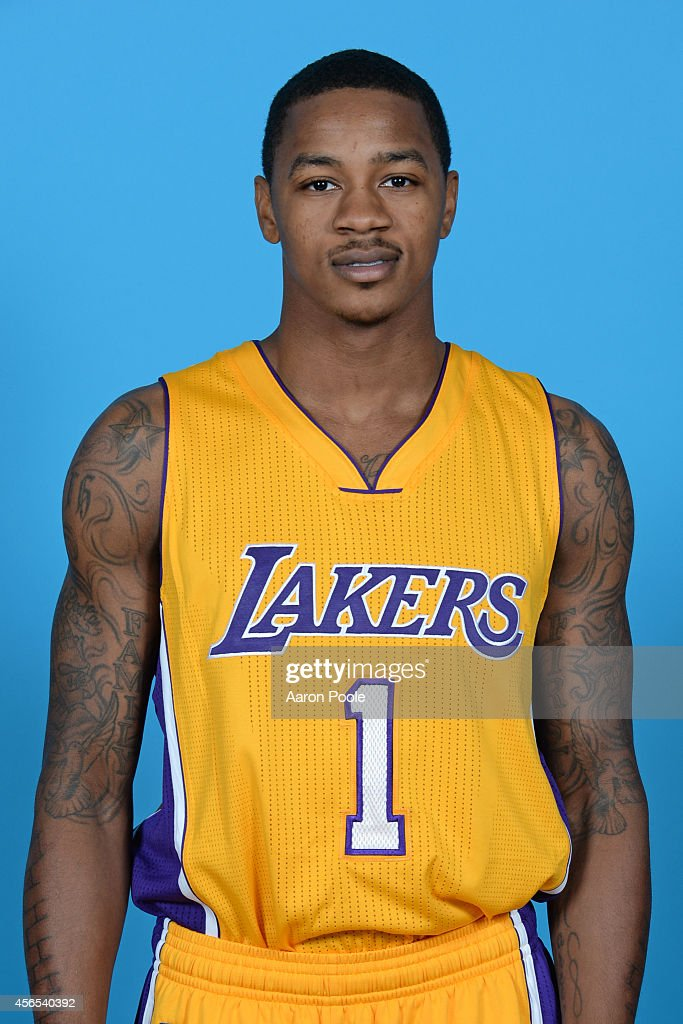 <a gi-track='captionPersonalityLinkClicked' href=/galleries/search?phrase=Keith+Appling&family=editorial&specificpeople=7367720 ng-click='$event.stopPropagation()'>Keith Appling</a> #1 of the Los Angeles Lakers poses for a portrait during the Los Angeles Lakers Media Day at the Toyota Sports Center on September 29, 2014 in El Segundo, California.