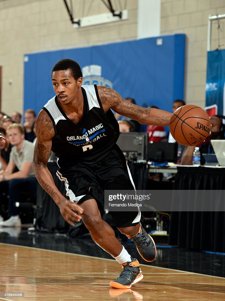 Keith Appling of the Orlando Magic handles the ball against the Charlotte Hornets on July 8 2015 at Amway Center in Orlando Florida NOTE TO USER User...