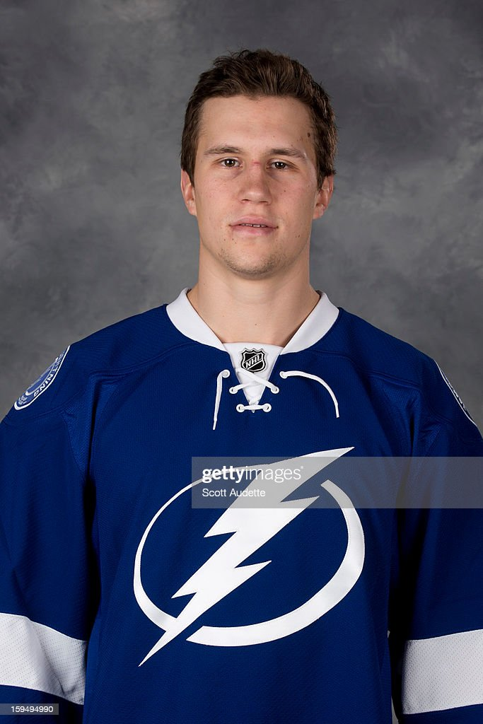 Keith Aulie #3 of the Tampa Bay Lightning poses for his official headshot for the 2012-2013 season at the Tampa Bay Times Forum on January 13, 2013 in Tampa, Florida.