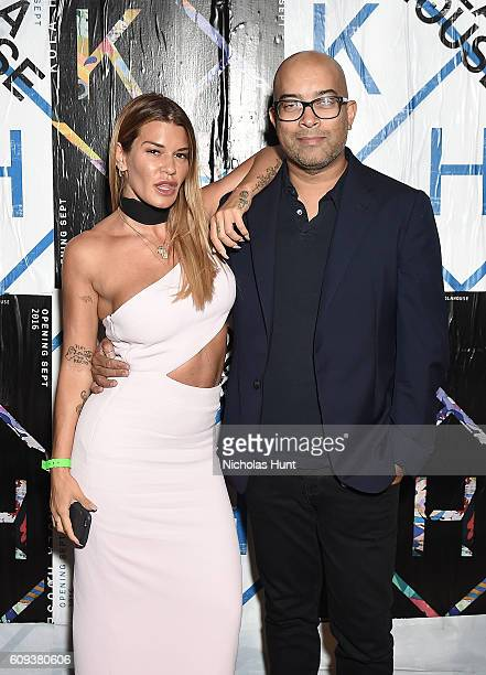 Keith Baptista and Jenne Lombardo attend the Kola House Opening Party at Kola House on September 20 2016 in New York City