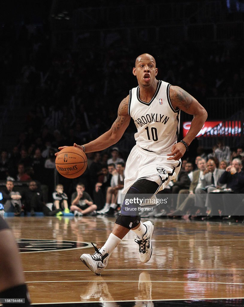 <a gi-track='captionPersonalityLinkClicked' href=/galleries/search?phrase=Keith+Bogans&family=editorial&specificpeople=202483 ng-click='$event.stopPropagation()'>Keith Bogans</a> #10 of the Brooklyn Nets dribbles the ball against the Philadelphia 76ers at Barclays Center on December 23, 2012 in the Brooklyn borough of New York City.