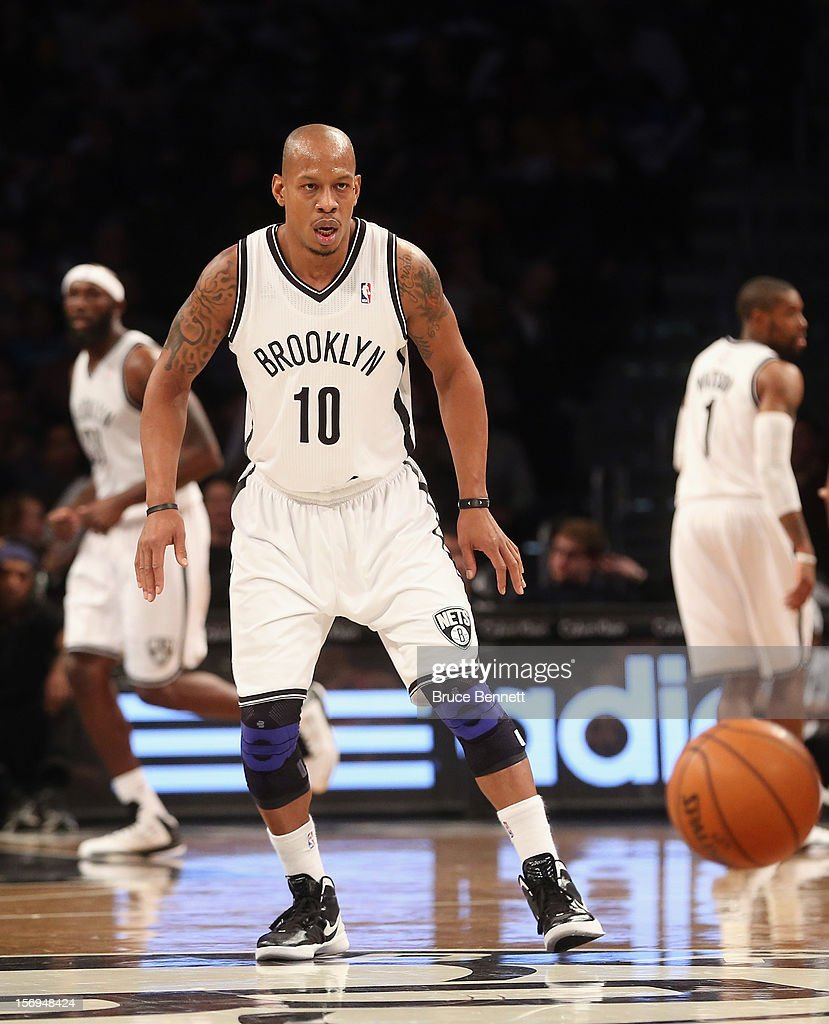 Keith Bogans #10 of the Brooklyn Nets plays against the Portland Trail Blazers at the Barclays Center on November 25, 2012 in the Brooklyn borough of New York City.