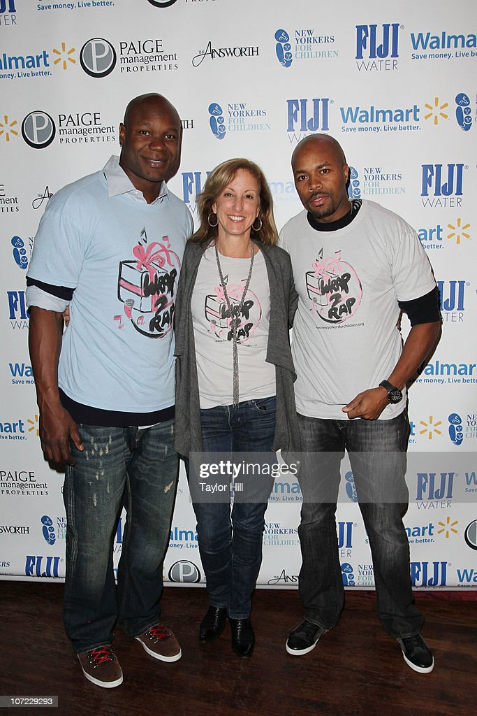 Keith Bulluck, Susan Magazine, and D-Nice attend the New Yorkers for Children Wrap to Rap benefit at The Ainsworth on November 30, 2010 in New York City.
