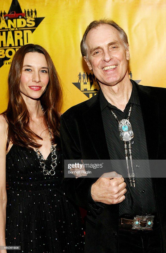 <a gi-track='captionPersonalityLinkClicked' href=/galleries/search?phrase=Keith+Carradine&family=editorial&specificpeople=218059 ng-click='$event.stopPropagation()'>Keith Carradine</a> (R) and wife Hayley Carradine attend 'Hands On A Hard Body' Broadway opening night after party at Roseland Ballroom on March 21, 2013 in New York City.