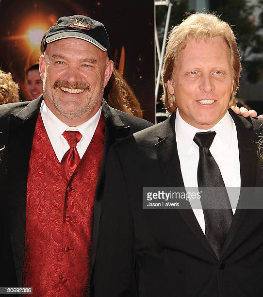 Keith Colburn and Sig Hansen attend the 2013 Creative Arts Emmy Awards at Nokia Theatre LA Live on September 15 2013 in Los Angeles California