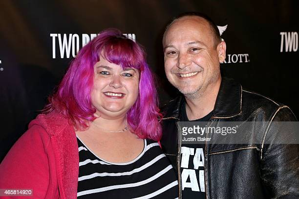 Keith Coogan and guest attend the 'Two Bellmen' World Premiere at JW Marriot at LA Live on March 10 2015 in Los Angeles California