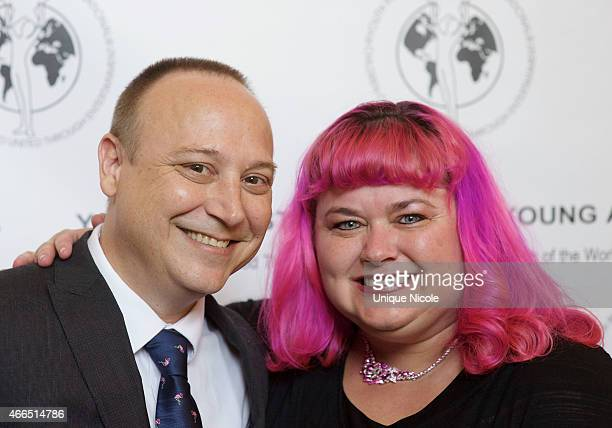 Keith Coogan and spouse Kristen 'Pinky' Shean attend the 36th annual Young Artist Awards at Sportsmens Lodge on March 15 2015 in Studio City...