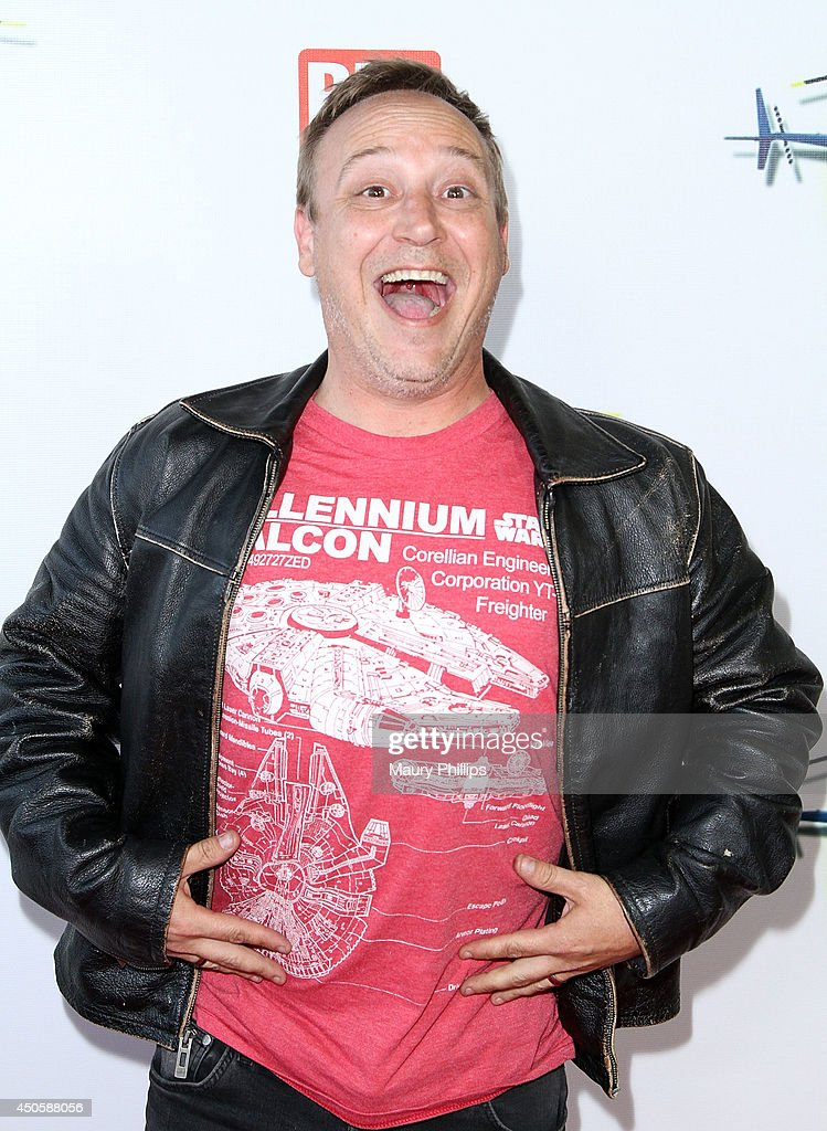 Keith Coogan arrives at Lorenzo Lamas' New Business Elite Helicopter launch party at the Van Nuys Airport on June 13, 2014 in Van Nuys, California.