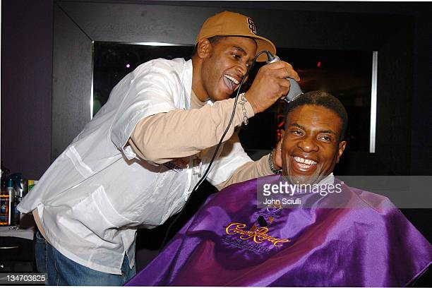 Keith David at Crown Royal Barber Shop during Red Carpet '05 Oscar Suite Day One at Pacific Design Center in West Hollywood California United States