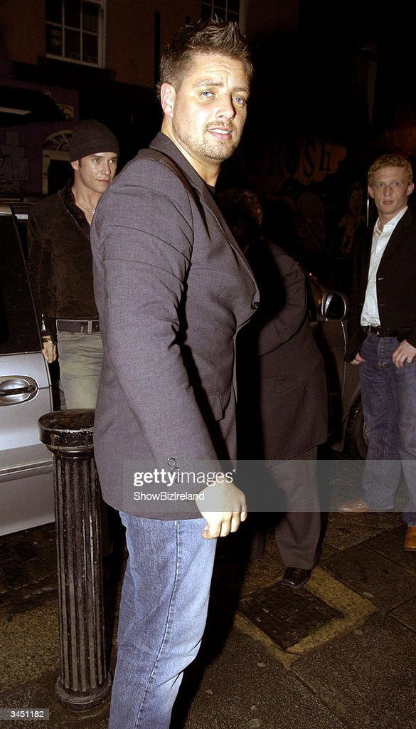 Keith Duffy, a former member of Boyzone, stands outside Diep Shaker Restaurant April 20, 2004 in Dublin, Ireland.