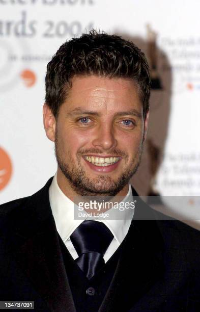 Keith Duffy during The Irish Film and Television Awards 2004 Pressroom at The Burlington Hotel in Dublin Ireland