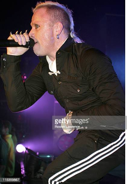 Keith Flint from The Prodigy during Prodigy in Concert December 2 2004 at Birmingham Academy in Birmingham Great Britain