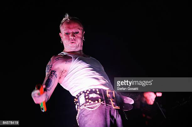Keith Flint of the band The Prodigy performs on stage during the Big Day Out 2009 at the Claremont Showgrounds on February 1 2009 in Perth Australia