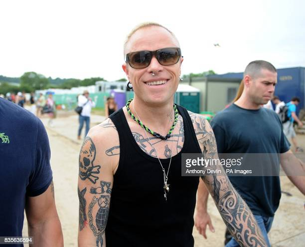 Keith Flint of The Prodigy during the 2009 Glastonbury Festival at Worthy Farm in Pilton Somerset