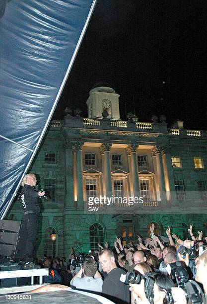 Keith Flint of The Prodigy during The Prodigy in Concert at the Somerset House in London August 6 2005 at Somerset House in London Great Britain
