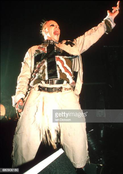 Keith Flint of The Prodigy performing on stage at The Forum Kentish Town London 16 December 1997